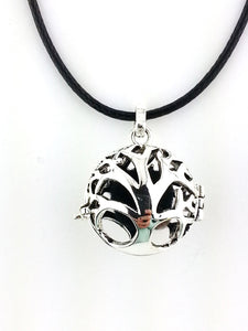 Essential Oil Tree of Life diffuser necklace by Earth in Wire