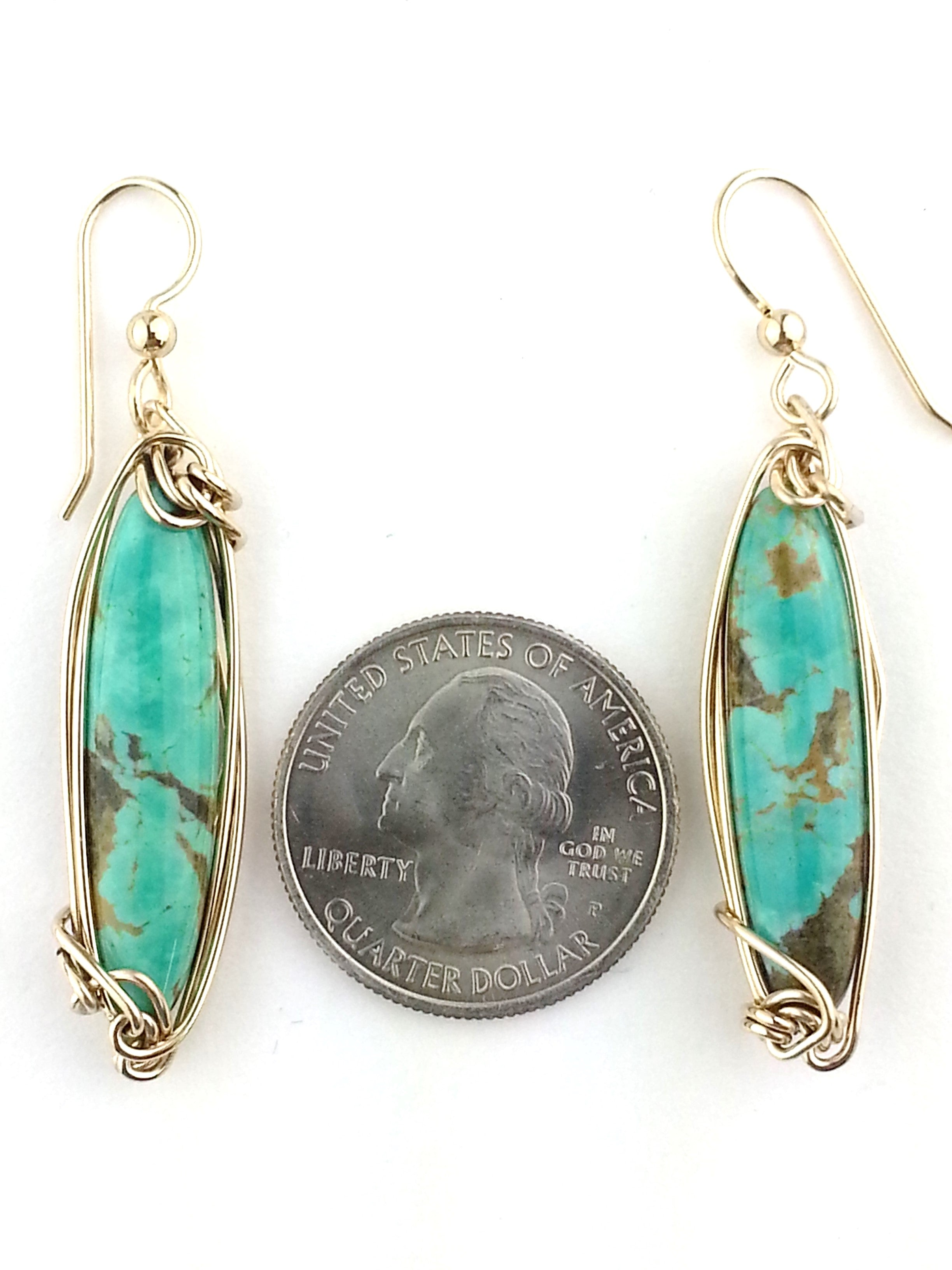 """Made in America"" Turquoise Earrings"