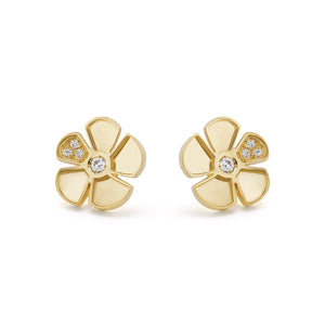 L. Klein 18K Gold Alessia Small Earrings with Diamonds
