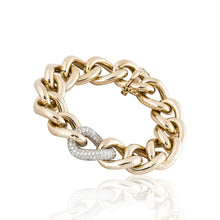 Load image into Gallery viewer, 14K Gold and Diamond Link Bracelet