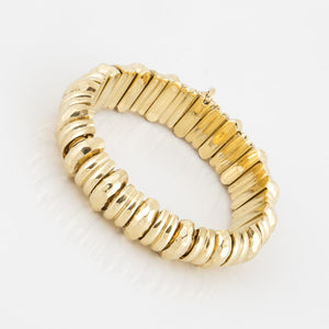 18K Gold Hammered Bracelet