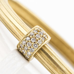 Estate 18K Gold Bangle Bracelet with Diamonds