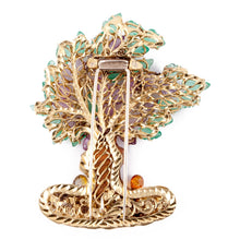 Load image into Gallery viewer, Nardi 18K Gold Gemset Tree Brooch