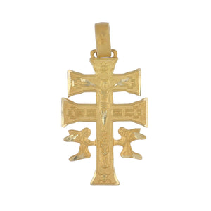 Estate 10K Gold Spanish Cross of Caravaca Pendant