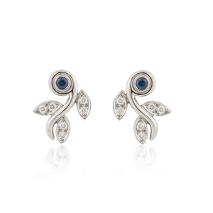 Tiffany & Co. Platinum Sapphire and Diamond Earrings