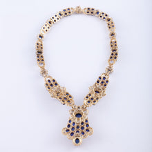 Load image into Gallery viewer, 18K Gold Sapphire and Diamond Necklace