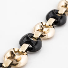 Load image into Gallery viewer, Estate Neiman Marcus  14K Gold and Onyx Anchor Link Necklace