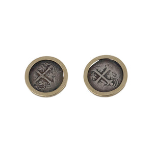 Estate 14K Gold Coin Cufflinks