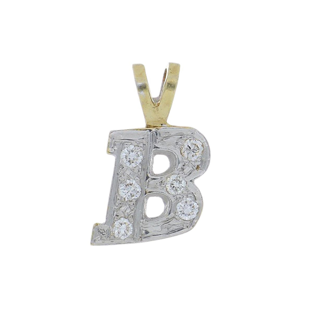 Estate 14K Gold and Diamond Letter