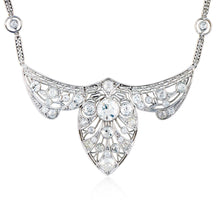 Load image into Gallery viewer, Art Deco Platinum Diamond Necklace