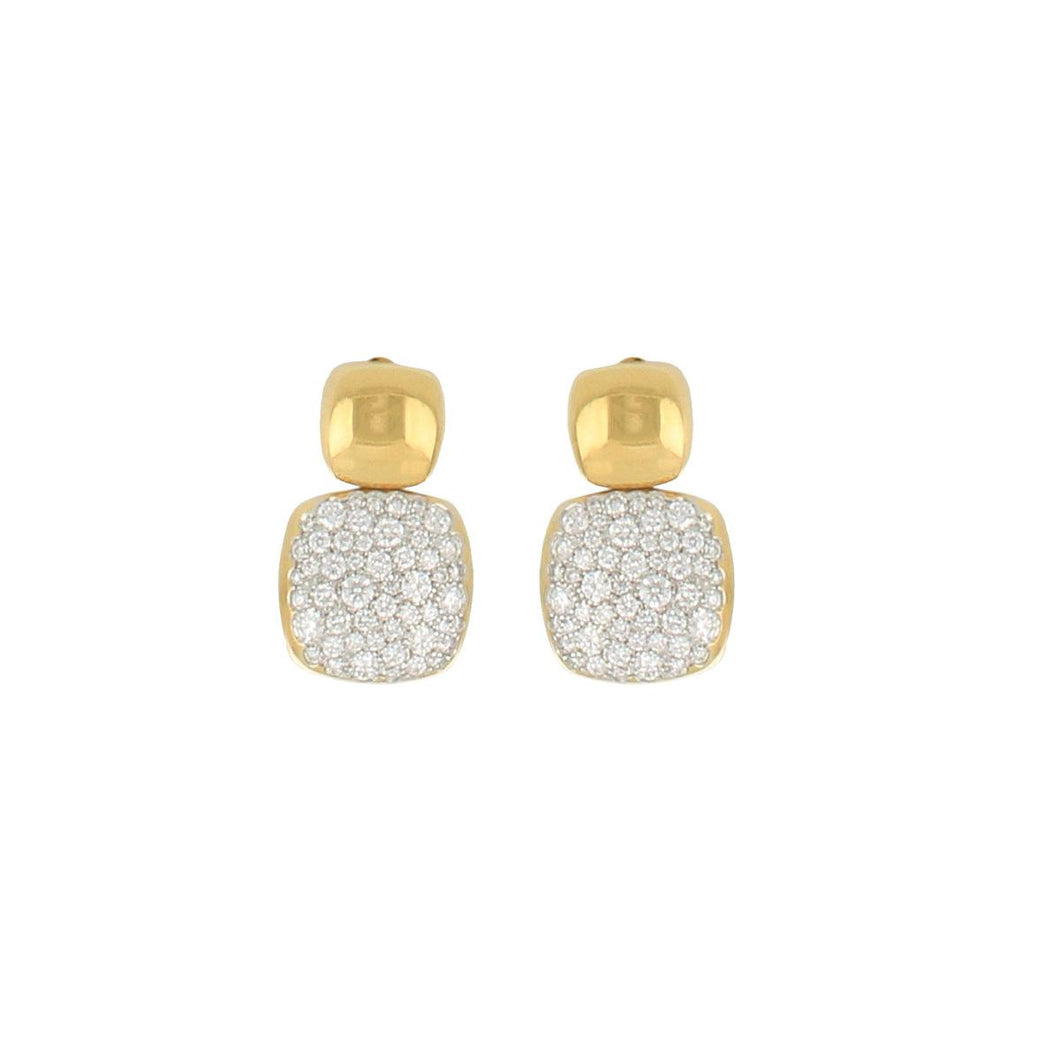 18K Gold Pavé Diamond Earrings