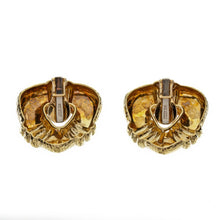 Load image into Gallery viewer, Estate David Webb 18K Gold Hammered Gold Earrings