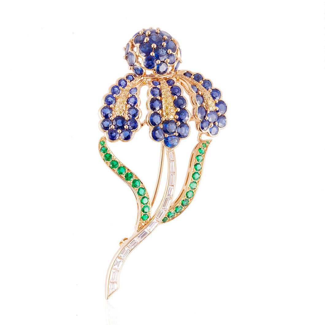 Estate Oscar Heyman 18K Gold Flower Brooch