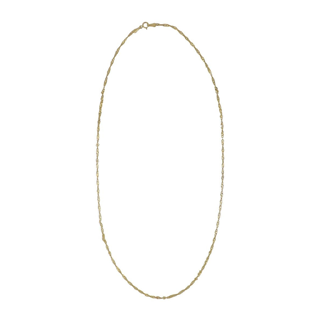 Estate 10K Gold Twisted Chain Necklace