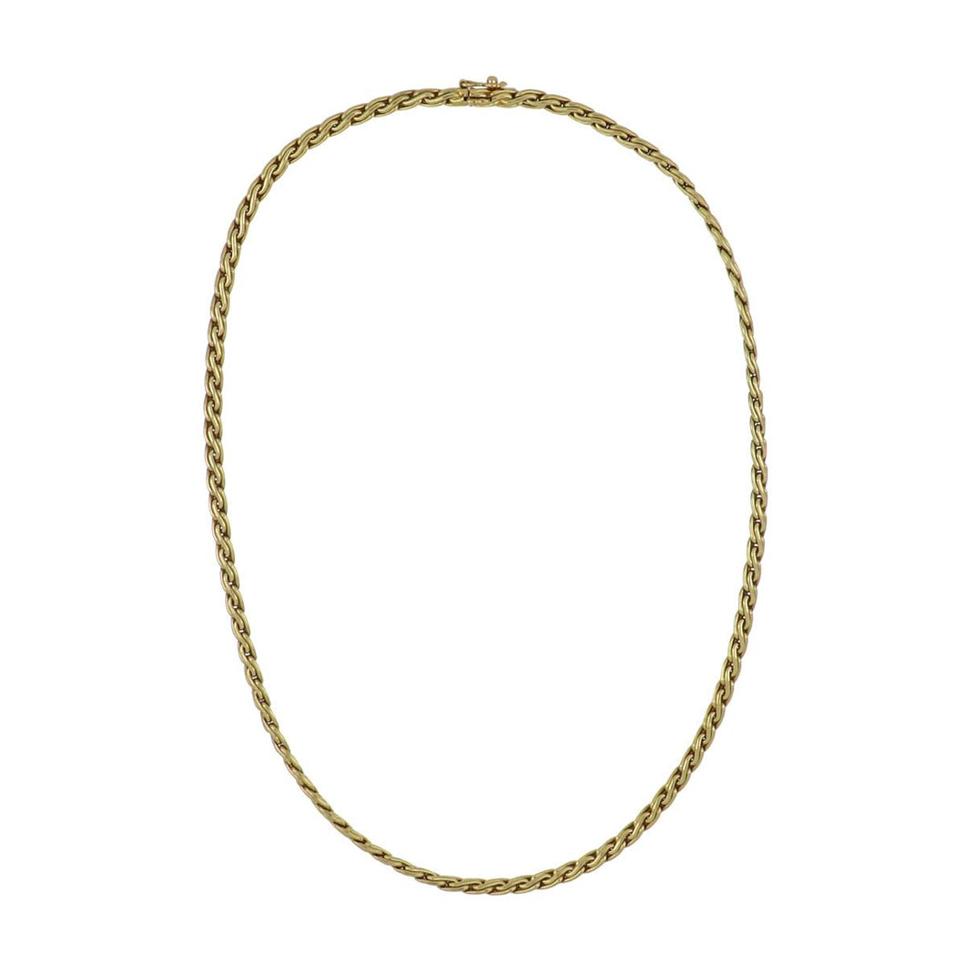 Estate 18K Gold Thick Chain Necklace