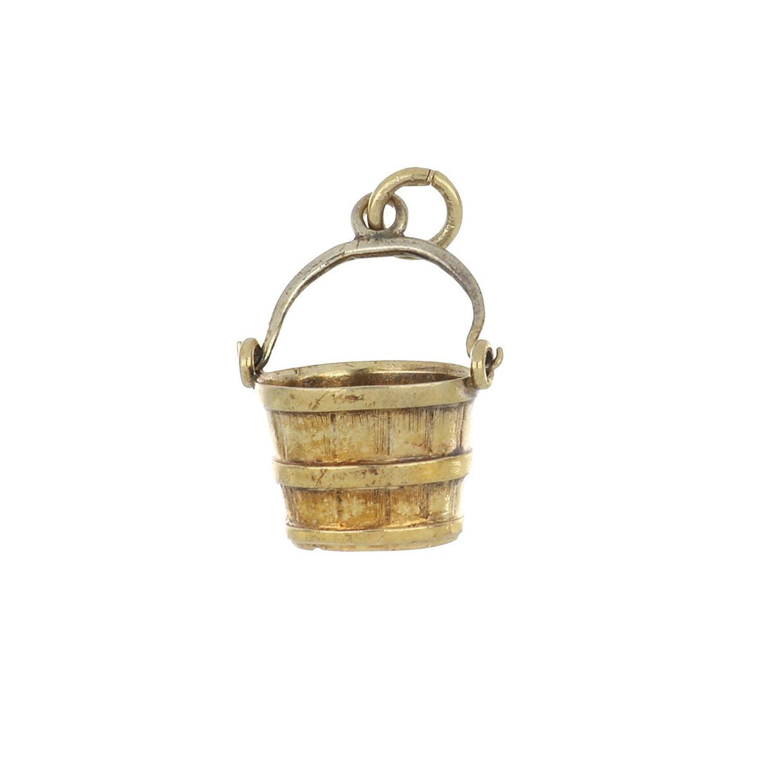 Estate 14K Gold Articulated Bucket Charm