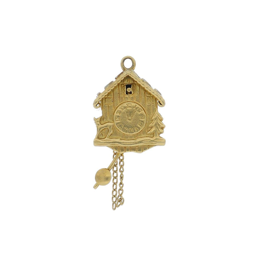 Estate 14K Gold Cuckoo Clock Charm
