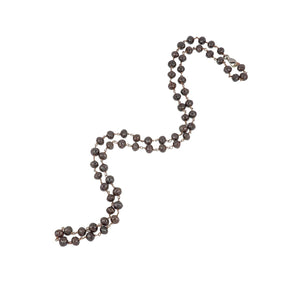 Estate 18K Rose Gold Fancy Red-Brown Diamond Bead Necklace