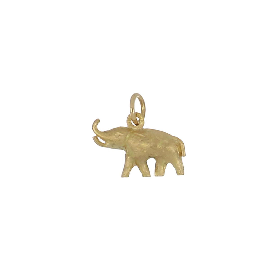 Estate 18K Gold Elephant Charm