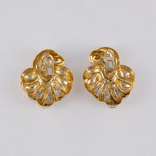 Load image into Gallery viewer, Estate 18K Gold and Diamond Earrings