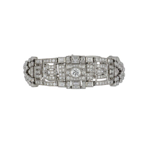 Art Deco 1930s Platinum Diamond Openwork Bracelet