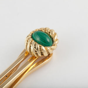 Tiffany & Co. Schlumberger Malachite Tie Bar