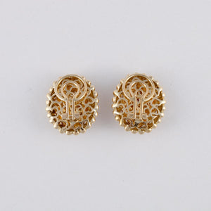 Estate Gioiel Moda 18K Gold Citrine Earrings