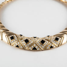 Load image into Gallery viewer, Estate Van Cleef & Arpels 18K Gold Onyx and Diamond Choker