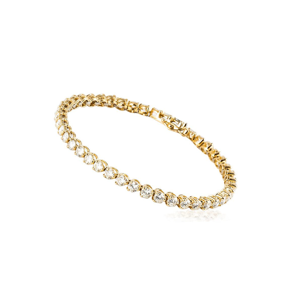 Estate 18K Gold Diamond Line Bracelet