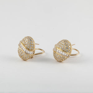 Estate 18K Gold Pavé Diamond Earrings