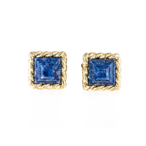 Estate David Webb 18KGold Lapis Cufflinks