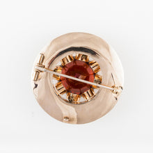 Load image into Gallery viewer, Estate Scottish 18K Gold Citrine Bloodstone and Carnelian Pin