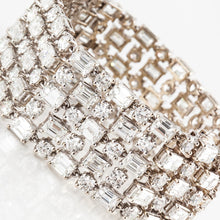 Load image into Gallery viewer, Estate 18K Gold Wide Diamond Bracelet