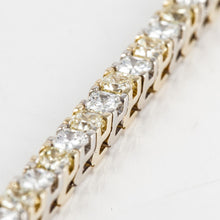 Load image into Gallery viewer, 18K Two Tone Gold Yellow and White Diamond Line Bracelet