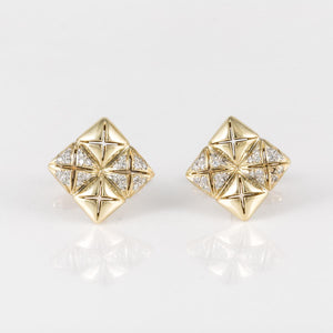 18K Gold Diamond Cufflinks