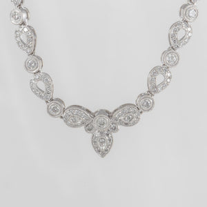 Estate 18K White Gold Diamond Necklace