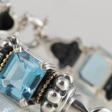 Load image into Gallery viewer, Lagos Sterling Silver Blue Topaz Bracelet
