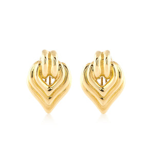 Vintage 1970s Charles Turi 18K Gold Earrings