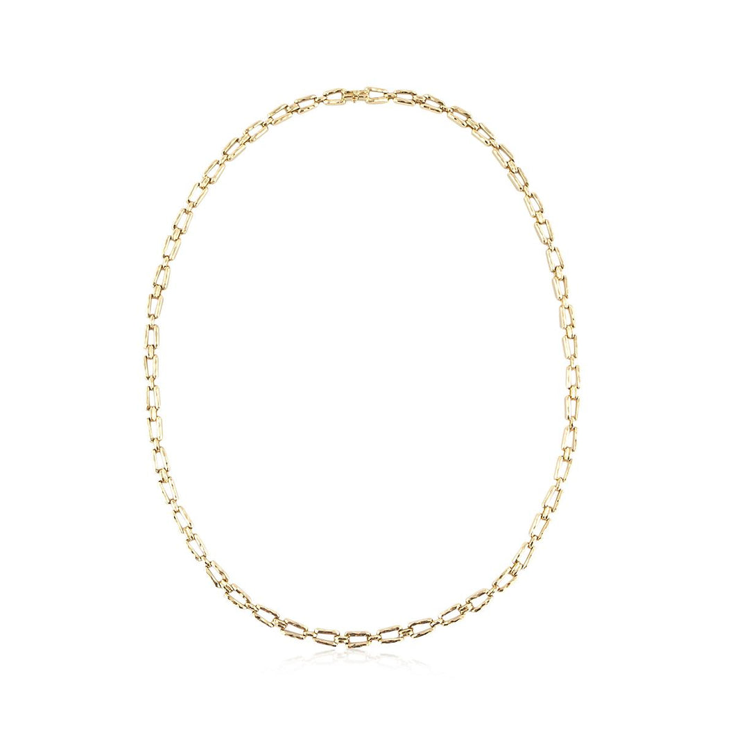 Estate Henry Dunay 18K Gold Hammered Link Necklace