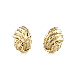 Estate Henry Dunay 18K Gold Earrings