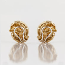 Load image into Gallery viewer, Estate Henry Dunay 18K Gold Earrings