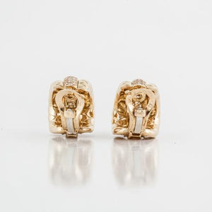 Estate Van Cleef and Arpels 18K Gold and Diamond Earrings