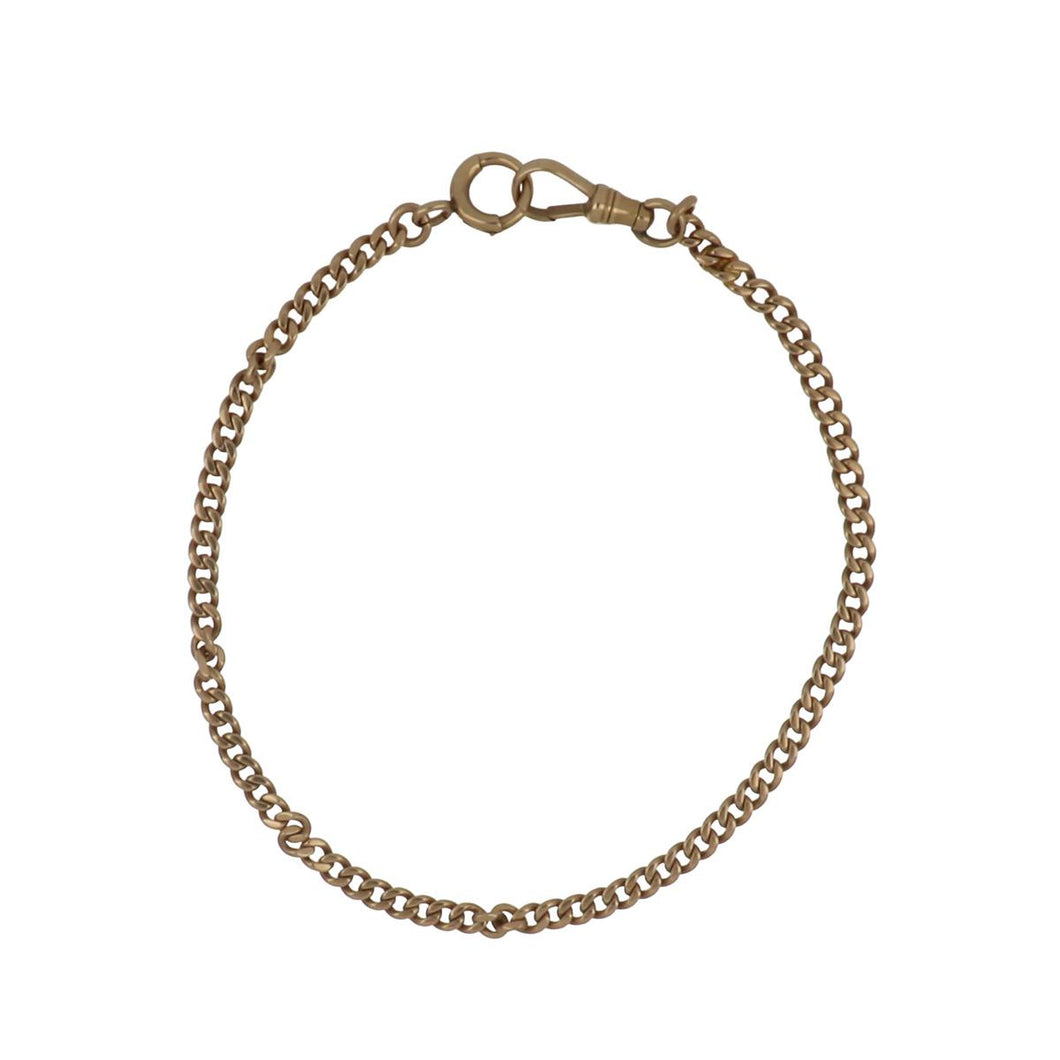 Art Deco 14K Gold Curb Link Watch Chain