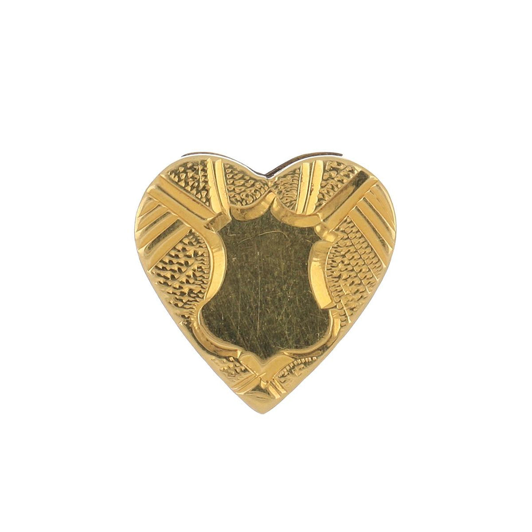 Estate 14K Gold Heart Shaped Slide
