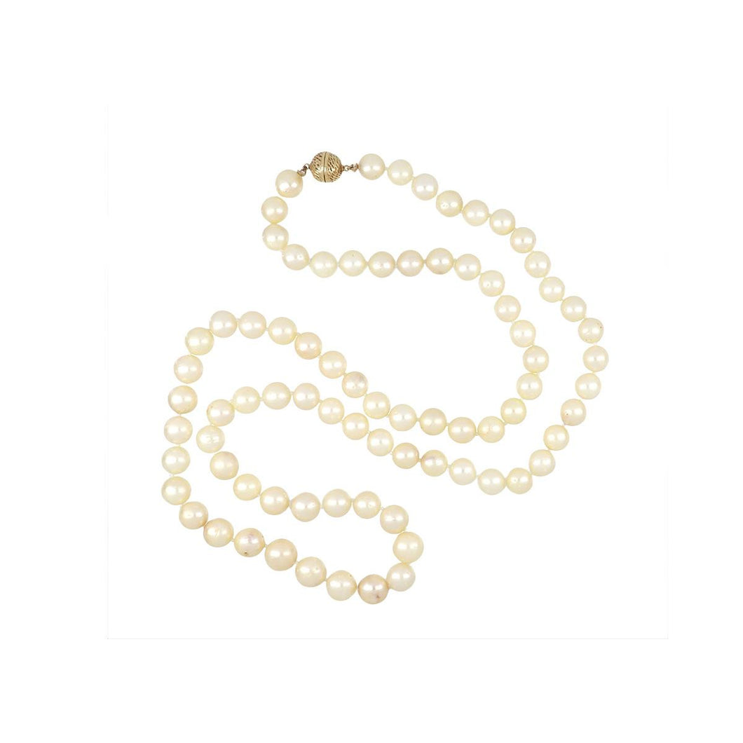 Estate 14K Gold Cultured Pearl Necklace