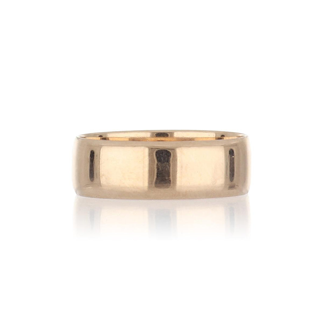 Estate 10K Rose Gold Flat Band