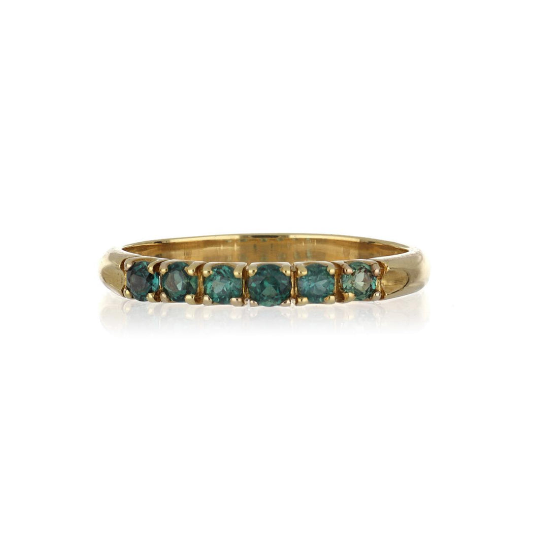 Estate 18K Gold Band with Alexandrite