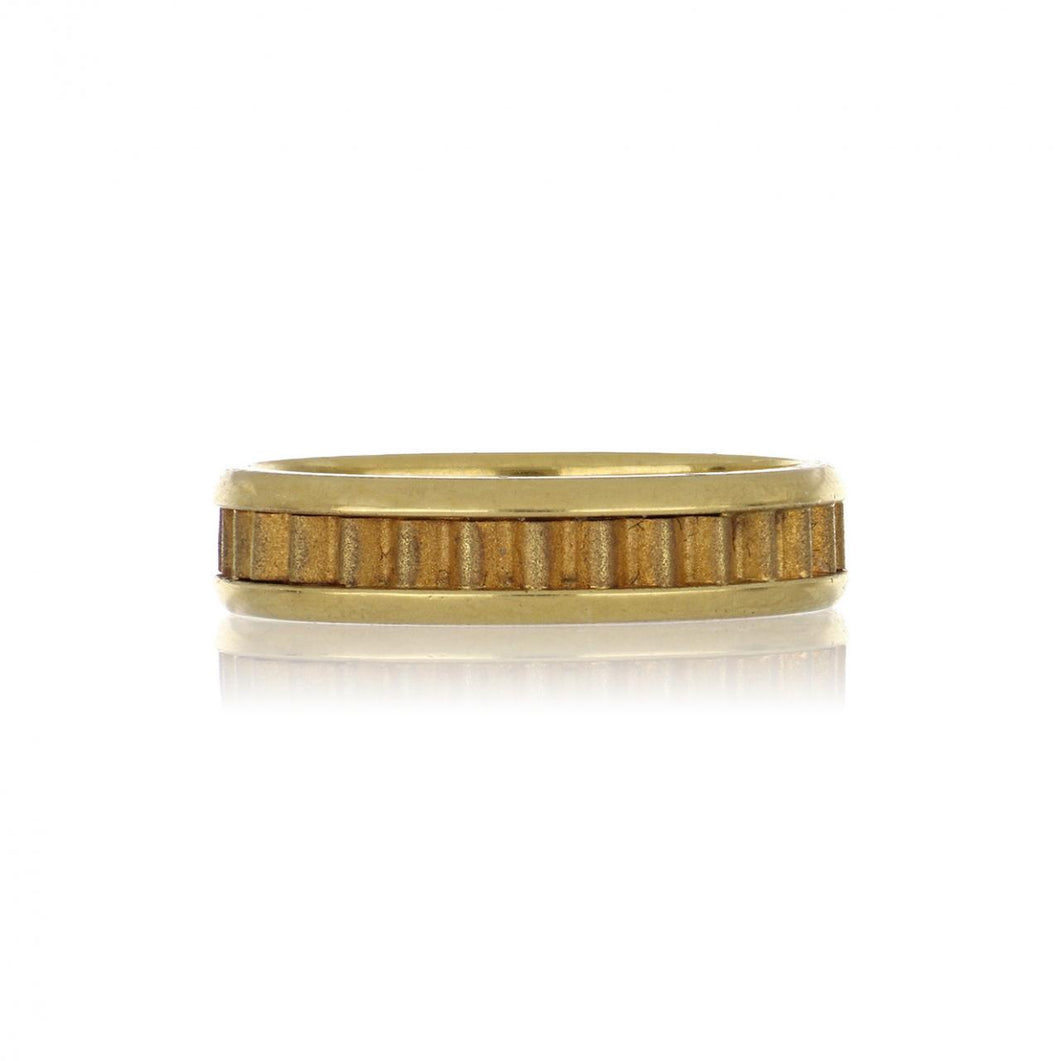 18K Gold Textured Band