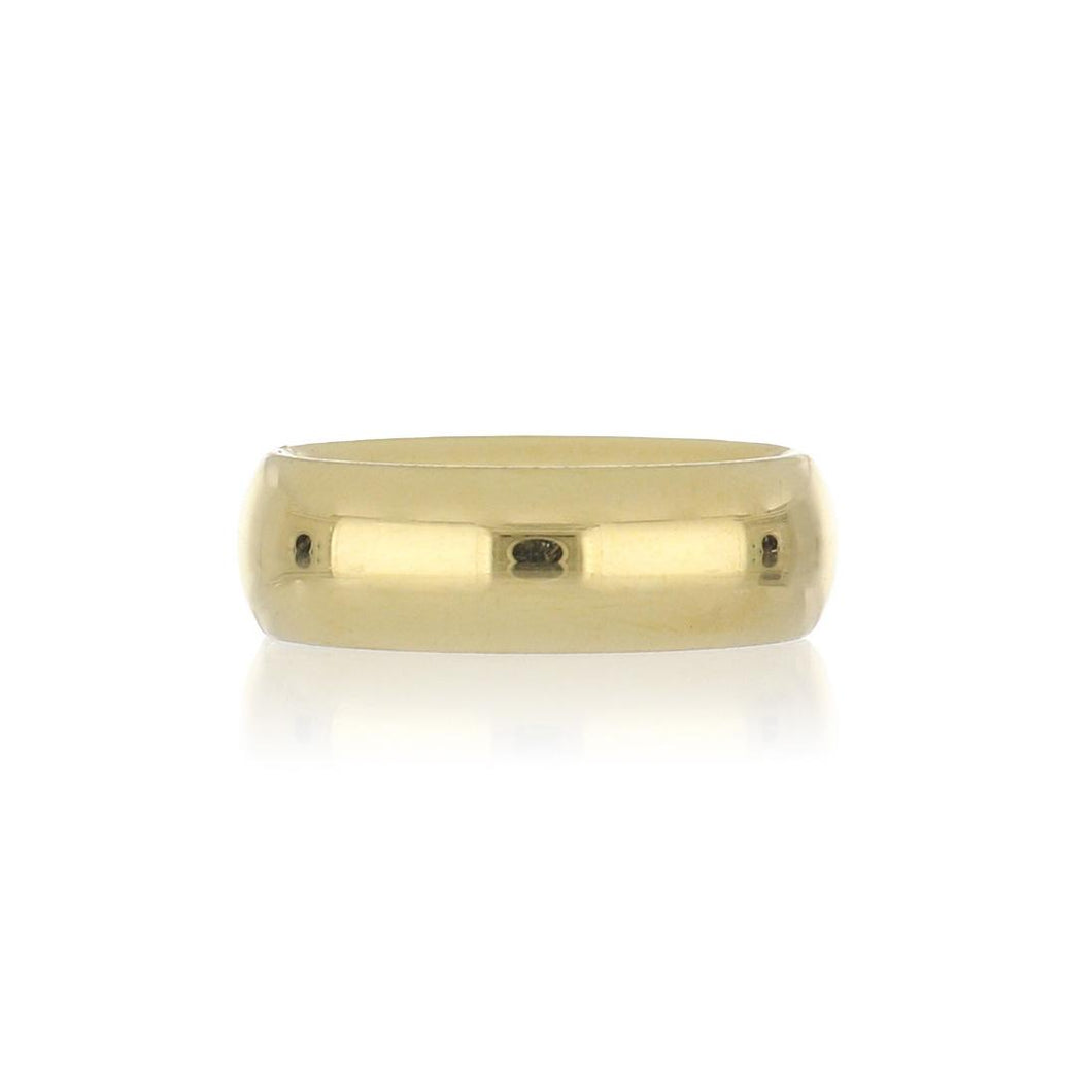 18K Gold High Polish Comfort Fit Band