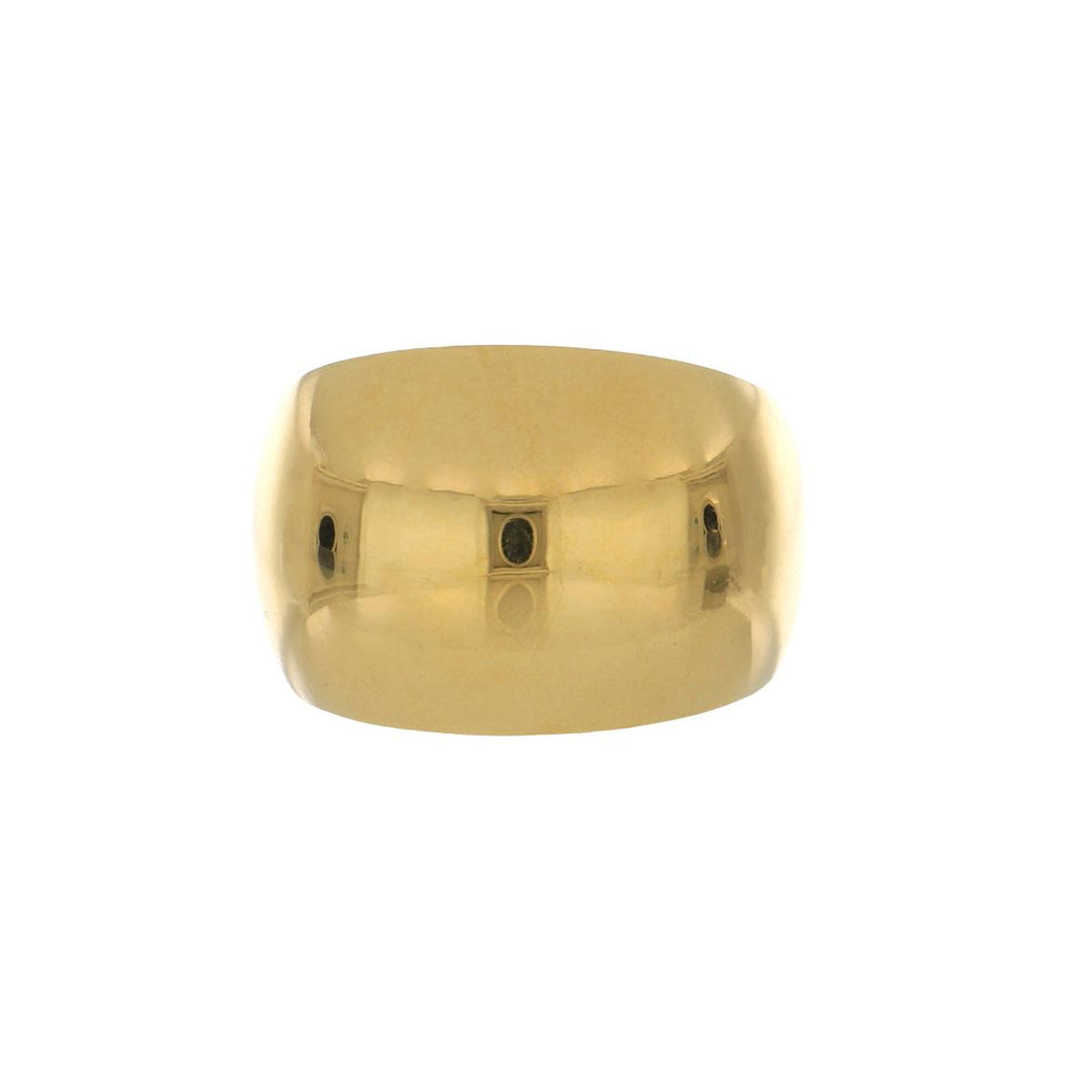 18K Gold Dome Ring with Concave Sides